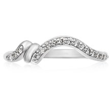Wrapped Contour Diamond Wedding Band - top view