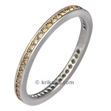 Diamond Channel Brilliant Eternity Band with Cognac Diamonds