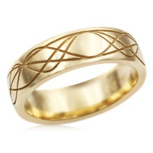 Sinusoidal Wave Wedding Band