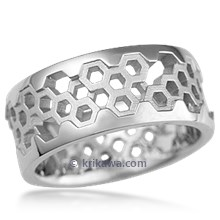 Hex Wedding Band in Platinum