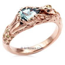 Hummingbird Engagement Ring In Rose Gold