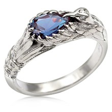 Hummingbird Engagement Ring With Alexandrite