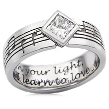 Musical Phrase Princess Engagement Ring
