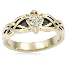 Celtic Knot Claddagh Engagement Ring