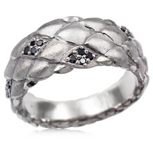 Diamond Dragon Scales Wedding Band