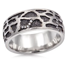 Giraffe Skin Wedding Band