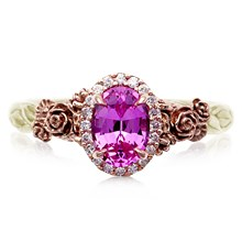 Floral Bouquet Light Engagement Ring - top view