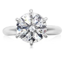 Ultimate Solitaire Engagement Ring - top view