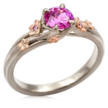 Plum Blossom Engagement Ring