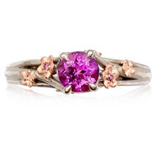 Plum Blossom Engagement Ring - top view