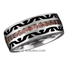 Unique Tribal Thorn Wedding Band