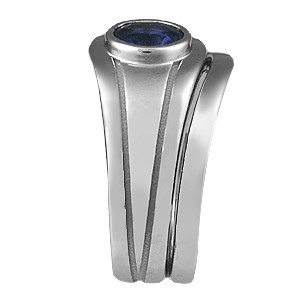 Modern Embrace Engagement Ring Bridal Set