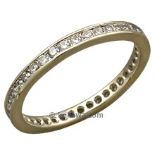 Diamond Channel Brilliant Eternity Band in Yellow Gold