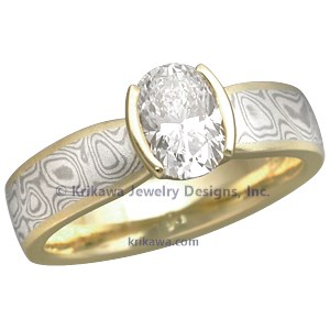 Custom Mokume Engagement Ring