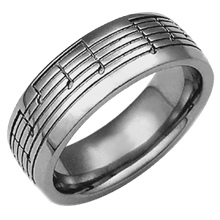 Musical Symbol Wedding Band