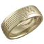 Yellow Gold Musical Phrase Wedding Ring
