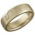 Yellow Gold Musical Phrase Wedding Ring