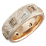 Mokume King's Crown Band with Champagne Diamonds