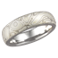 Winter Mokume Band with Rounded Profile, Matte, Light Etch