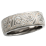 Champagne Mokume Wedding Band with Light Etch