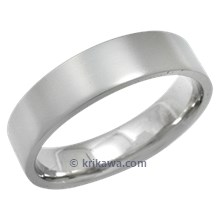 Plain Band with a Matte Finish and Flat Profile