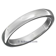 High Polish Plain Wedding Band