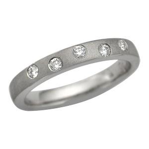 Short Scattered Diamond Wedding Band