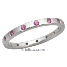 Straight Pink Sapphire Wedding Band