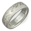 Winter Mokume Wedding Band in Green Gold, Matte, Light Etch
