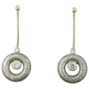 Summer Mokume Lifedrop Earrings