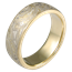 Summer Mokume Wedding Band in 18K Yellow Gold