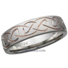 Hand Engraved Celtic Knot Wedding Band