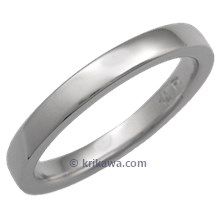 Platinum Wedding Band, 3mm Wide