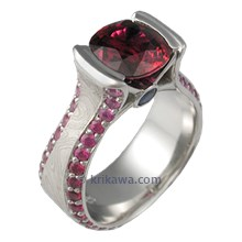 Luxury Juicy Liqueur Engagement Ring with Rubies
