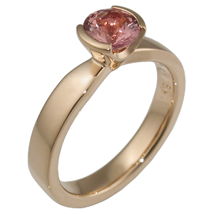 Modern Taper Engagement Ring in Rose Gold