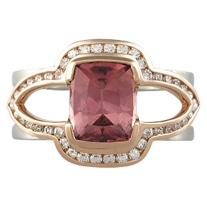 Brilliant Scaffolding Engagement Ring with Spinel