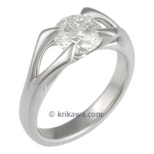Carved Branch Engagement Ring with 1 ct Diamond