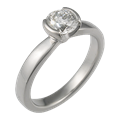 Modern Taper Engagement Ring with 0.55 Ct Diamond