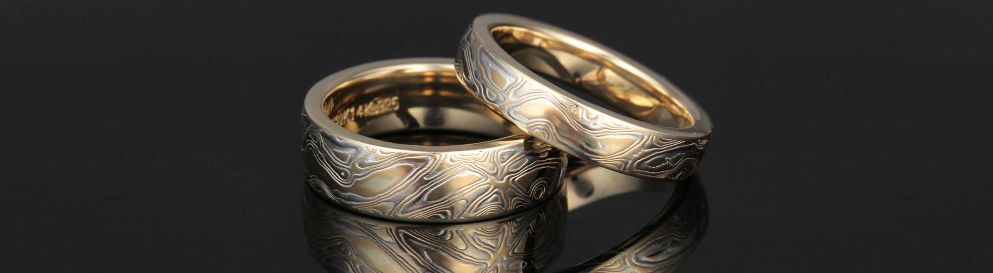Amazing Mokume Wedding Bands