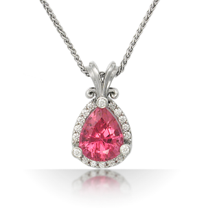 brilliant halo pear gemstone pendant