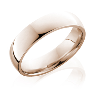 Oval Band in 14k Rose Gold