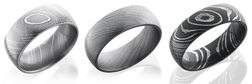 Damascus Steel Rings Damascus Steel Bands