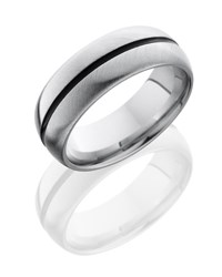 Black stripe men's wedding band