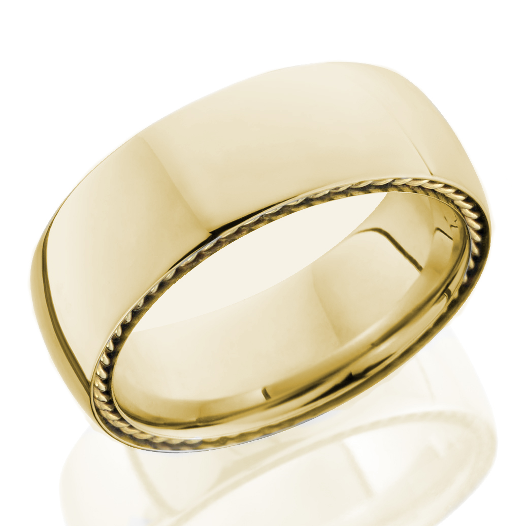 18k Yellow Gold Side Braid Band