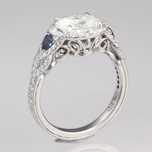 Custom Vintage Engagement Ring