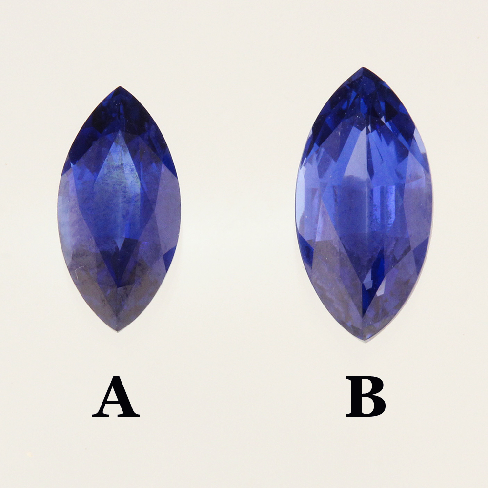Chatham marquise sapphires