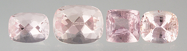 Peach Sapphires and Morganites