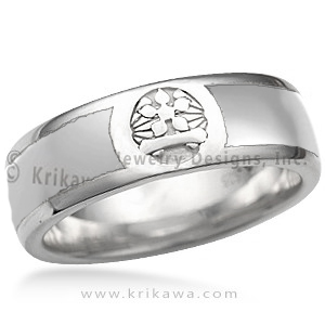 Men's Family Crest Wedding Band