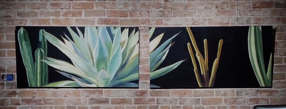 Oil Painting Diptych by Tove Reese