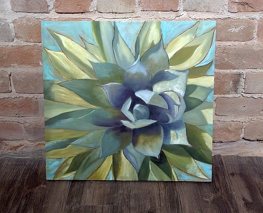 Geometric Agave Painting by Tove Reese